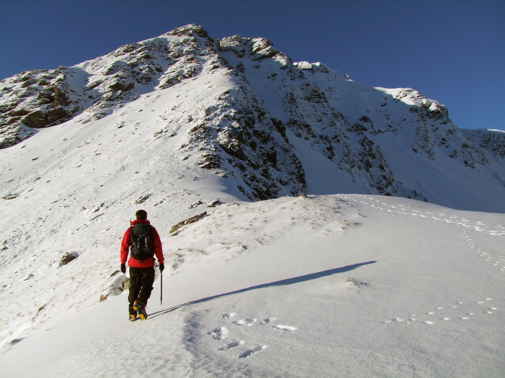 Approaching the South East ridge of Ben Lui, 195 kb