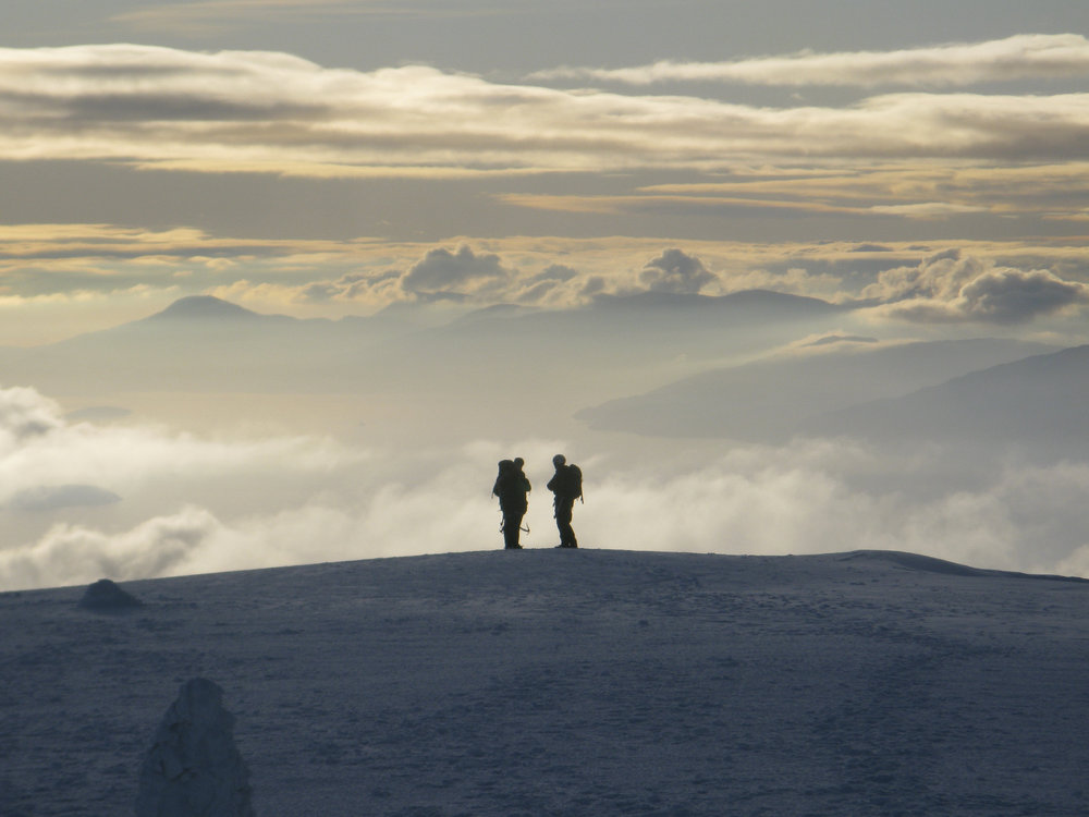 Looking west from Ben Nevis summit during an afternoon of magical weather., 111 kb