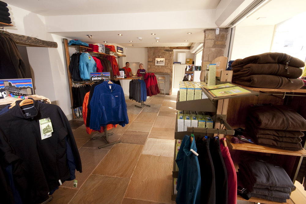 Inside the Patagonia shop in Hathersage, 156 kb