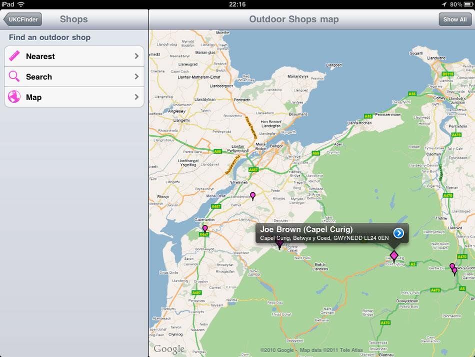 UKC Finder App - iPad shot 1, 119 kb