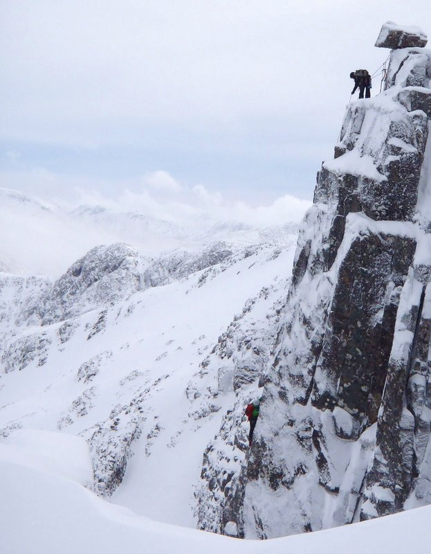 Climbers on Crest Route, Stob Coire Nan Lochain, 93 kb