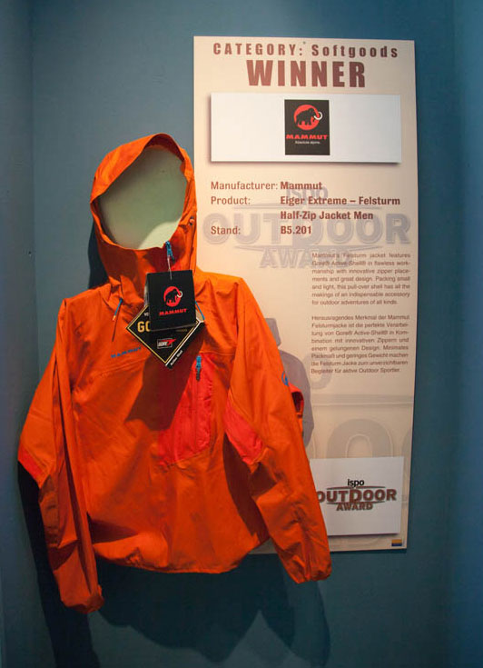 ISPO February 2011 - Mammut Eiger Extreme, winner in Softgoods, 68 kb