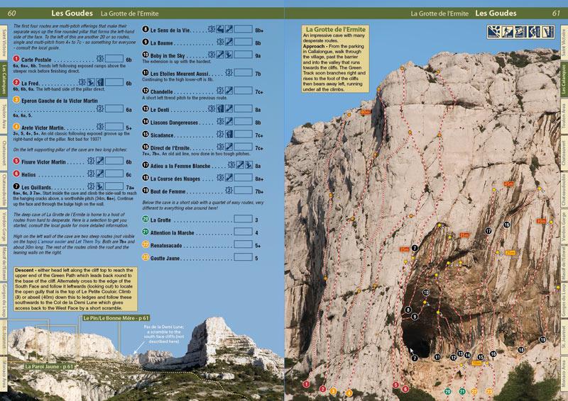 Cote d'Azur Rockfax example page, 153 kb