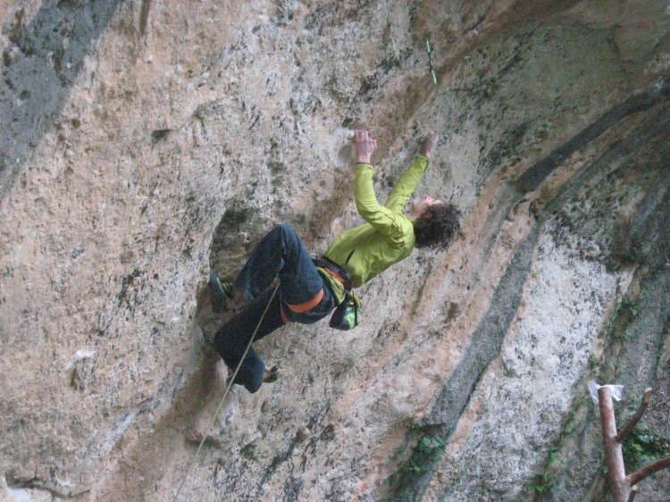 Adam Ondra on La Capella, 9b, 76 kb