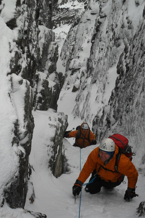 In the South Buttress Gully on Blaven, 156 kb