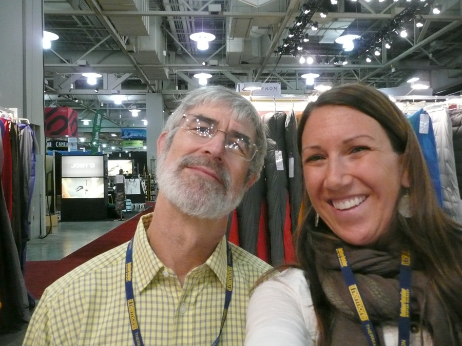 Rab Carrington and Sam Killgore (Rab USA's marketing manager)  at the Salt Lake City Outdoor Retailer (OR) Show, 211 kb