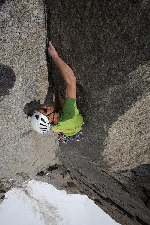 Jon Bracey on Dame de Lac, Aiguille du Midi, 125 kb
