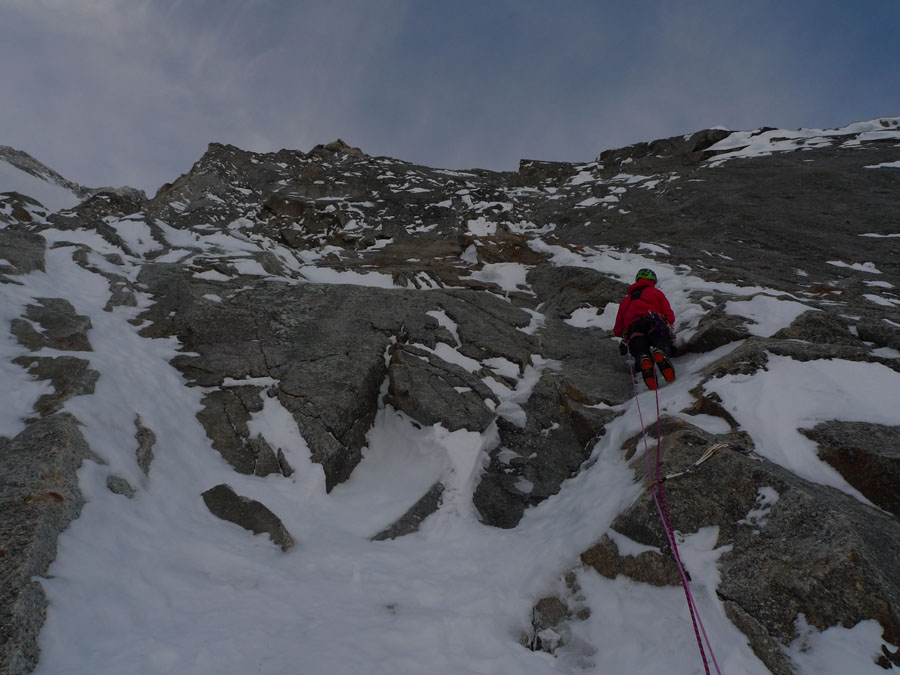Patrice Glairon Rappaz on hard mixed terrain on the first day, 118 kb