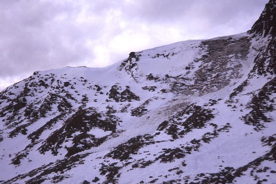 Avalanche debris, Cam Chreag, 146 kb