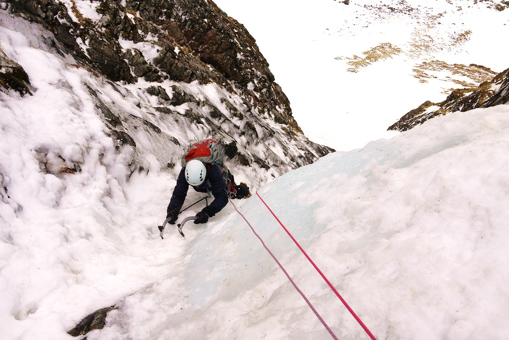 Good ice to climb on the Pumpkin, Creag Megaidh, 182 kb