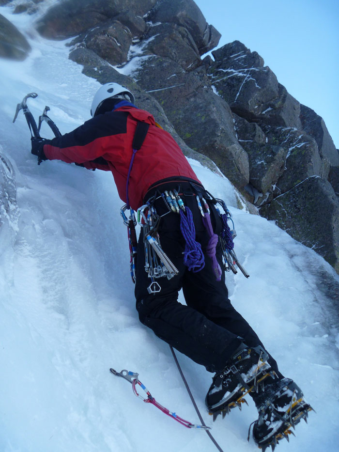 Kenny on good ice on the Fiachail Buttress, 141 kb