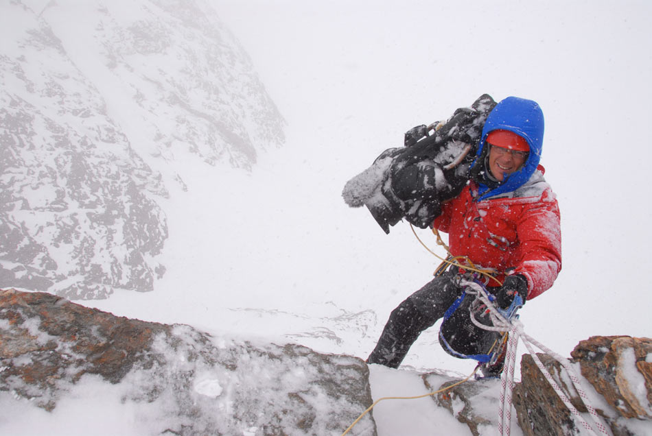 Keith Partridge, top adventure cameraman shooting for the film 'Beckoning Silence'  © Brian Hall., 88 kb