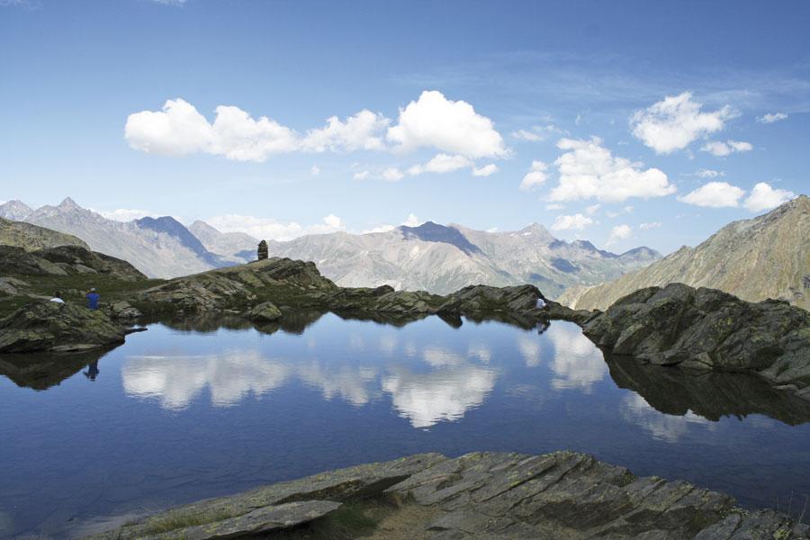 Gran Paradiso - the beautiful Lago di Lauson, 86 kb