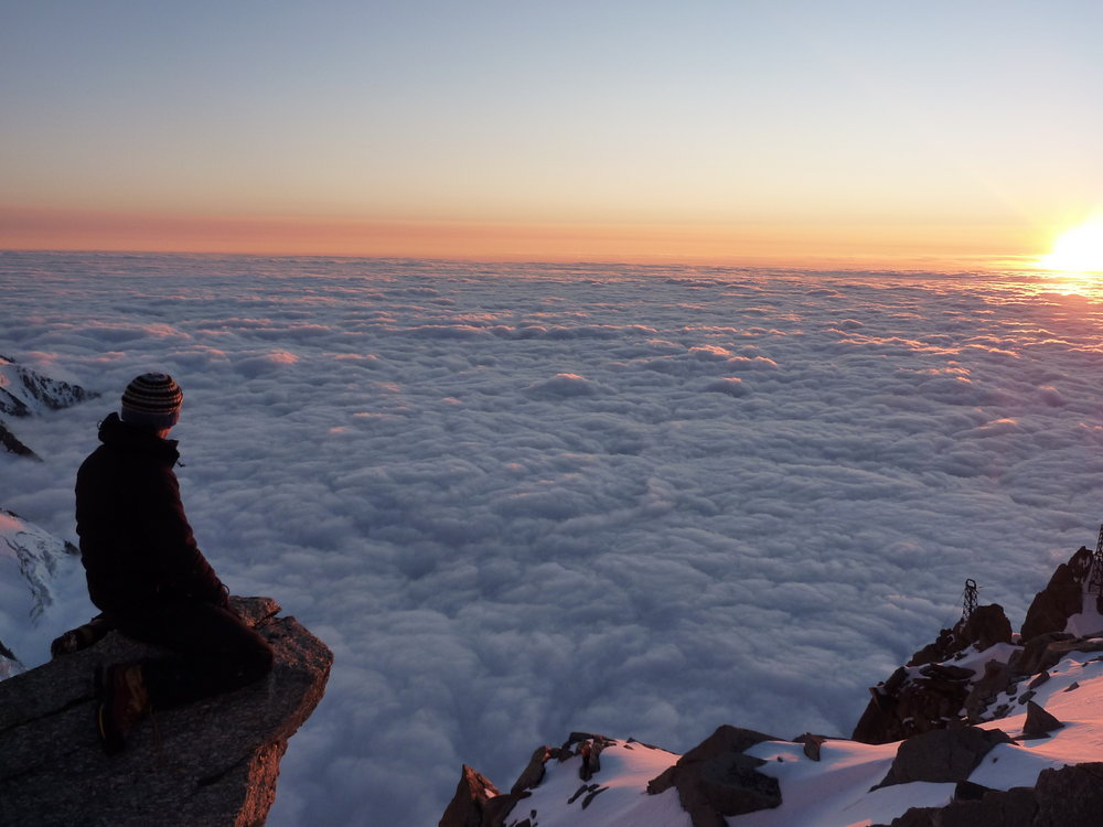 Amazing cloud inversion at sunset on the Upper Valley Blanche over Chamonix.  , 117 kb