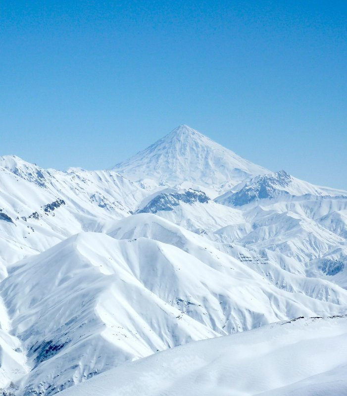 Mount Damavand from the Dizin Ski resort, Iran, 76 kb