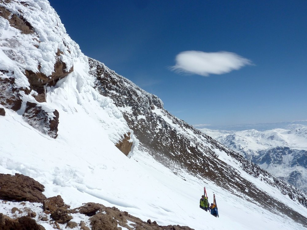 Climbing the final slopes, 300m below the summit of Mount Damavand, 148 kb