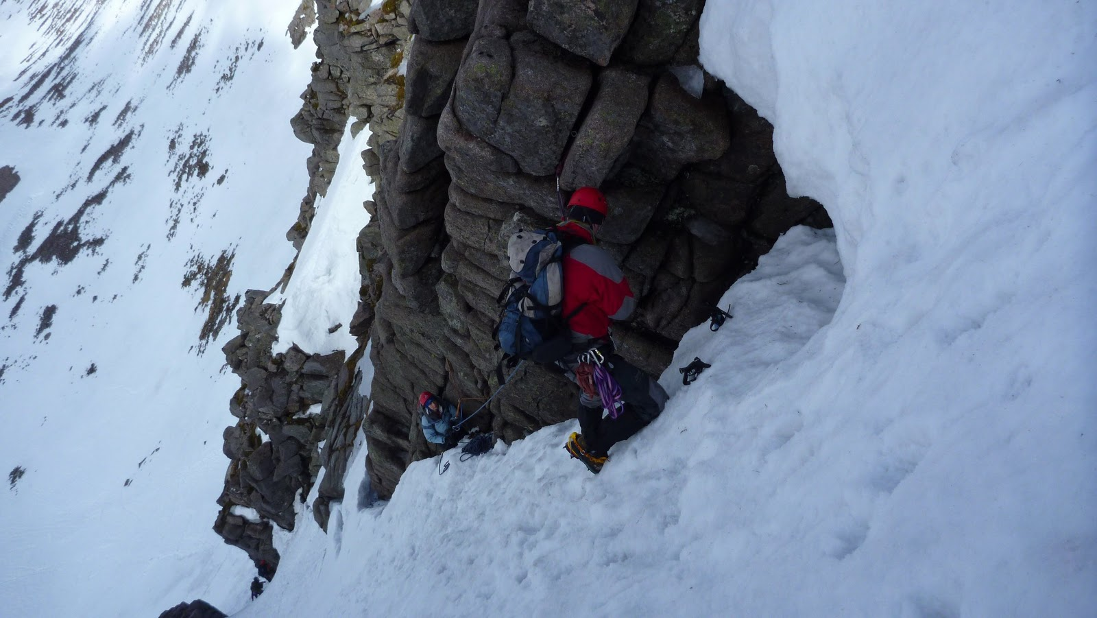 Moving up Jacobs Ladder, Mess Of Potage, Northern Cairngorms, 200 kb