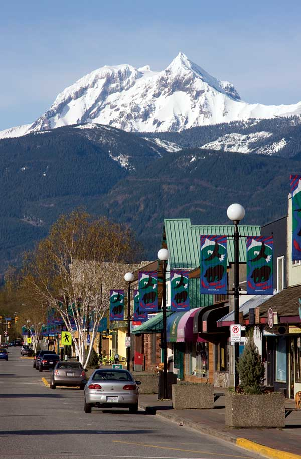 Cleveland Avenue in Squamish, looking north toward Mt. Garibaldi., 75 kb