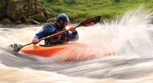 Kayaking at Plas y Brenin, 42 kb