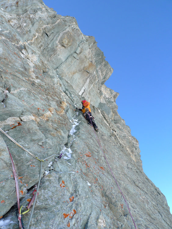 Cedric Perillat on a beautiful fissure on the last day, 135 kb