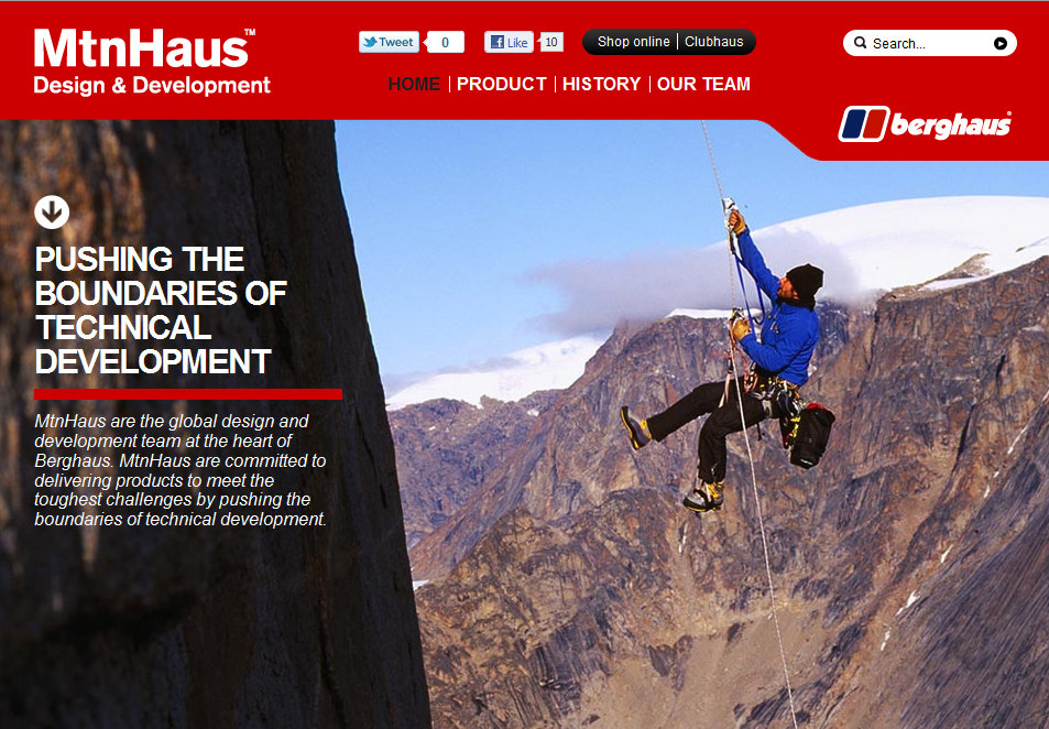 MtnHaus Website, 208 kb