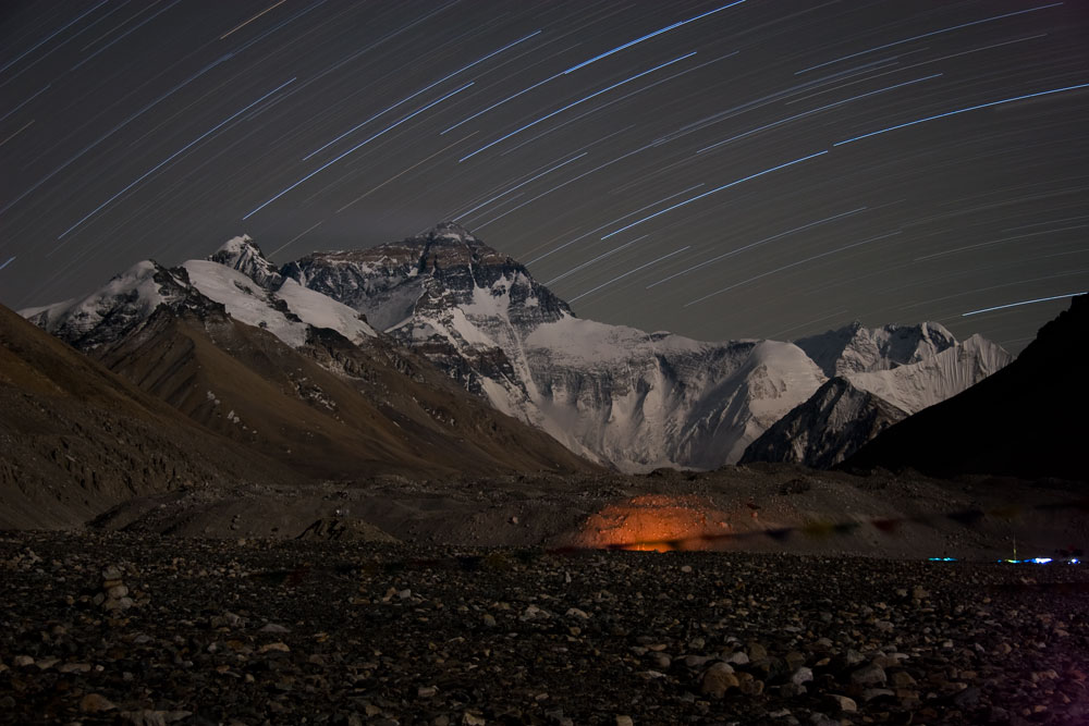 1 hour long exposure, North Face Everest, 125 kb