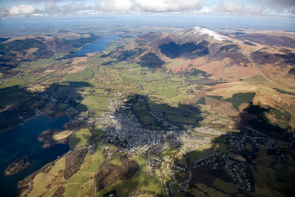 Keswick from 4500ft, taken from a paraglider, 172 kb