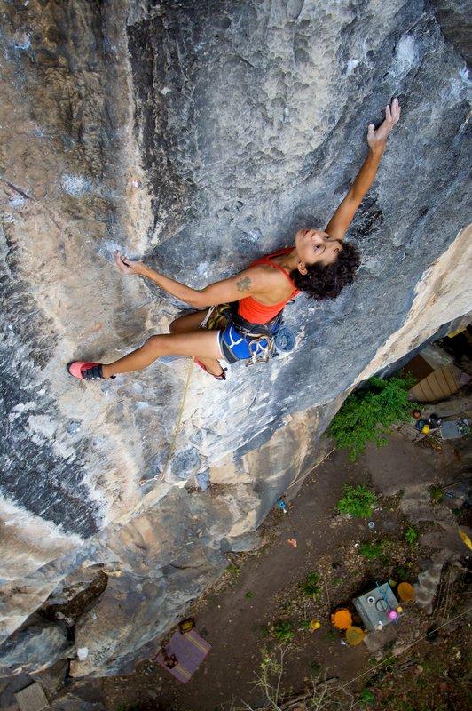 Kat climbing Intensify (7b), 130 kb
