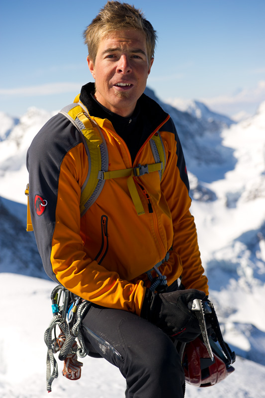 Dani Arnold on top of the Eiger 2011, 134 kb