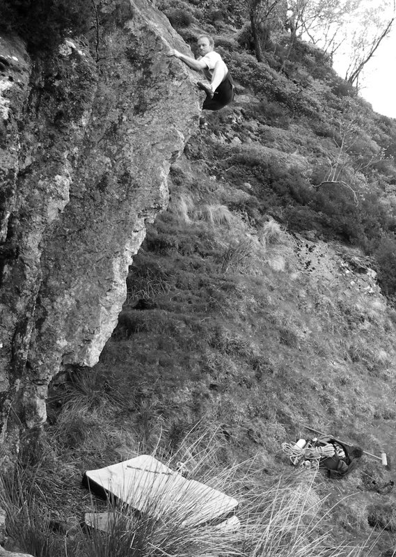 first ascent, 155 kb