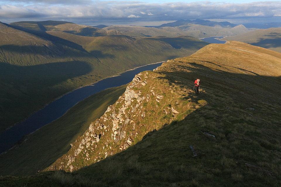 Chaorachain (left), Lunndaidh and Loch Monar from Lurg Mhor, 135 kb
