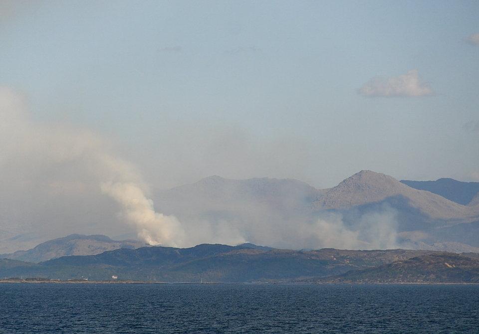 Fire near Mallaig - Monday, 68 kb