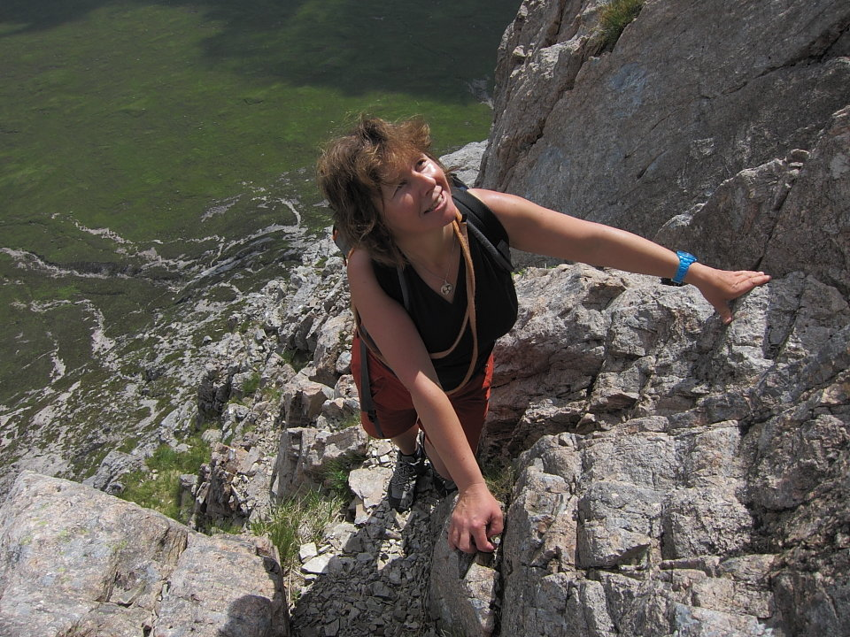 Lorraine McCall on the Buachaille, 215 kb