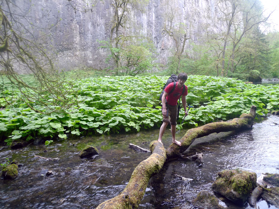 No plans for a bridge across to Chee Tor. Tom Cain gets his feet wet., 231 kb