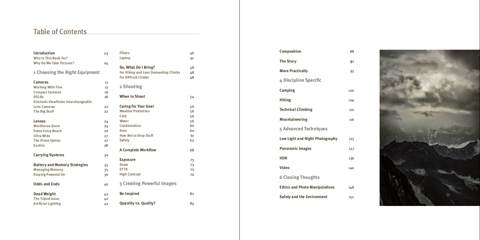Table of Contents of Remote Exposure, 103 kb