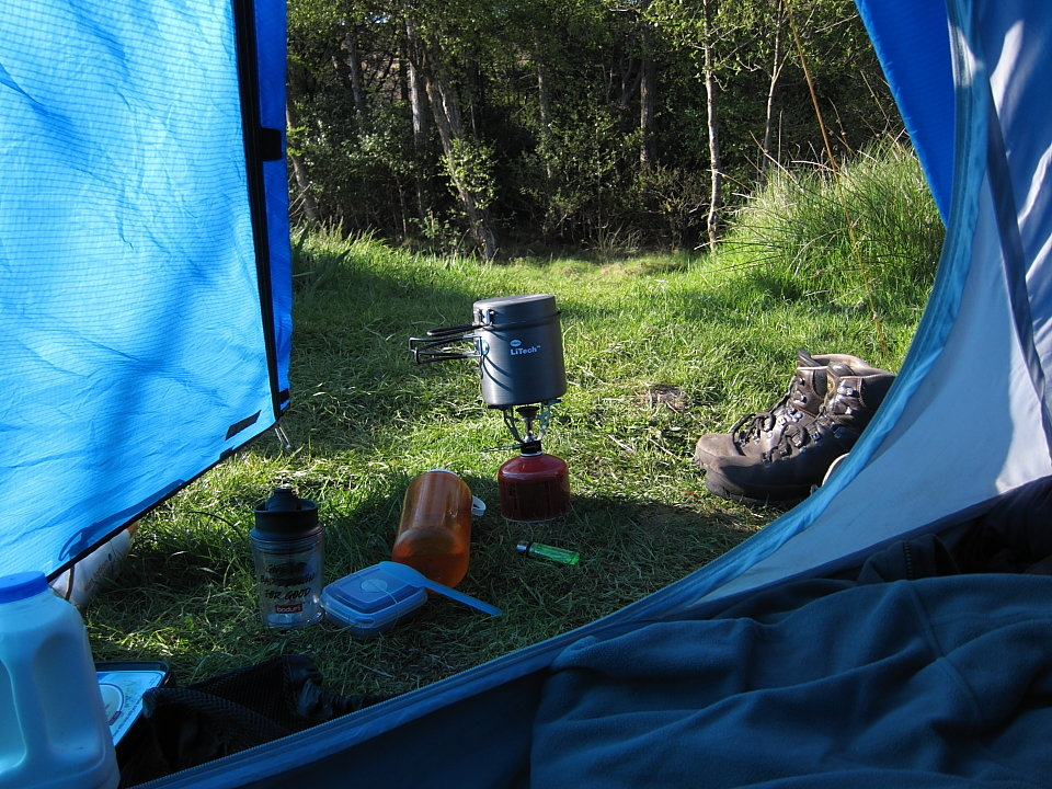 Camping with a Primus LiTech Trek Kettle, 220 kb