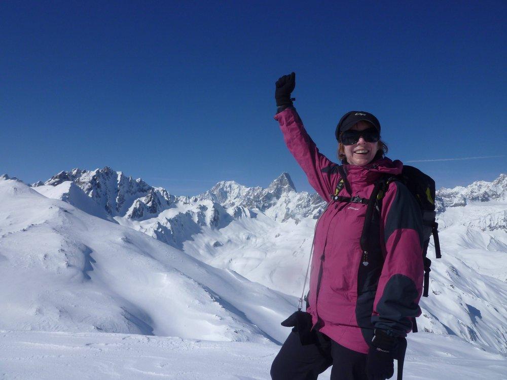 Niamh enjoying her summit moment!, 87 kb