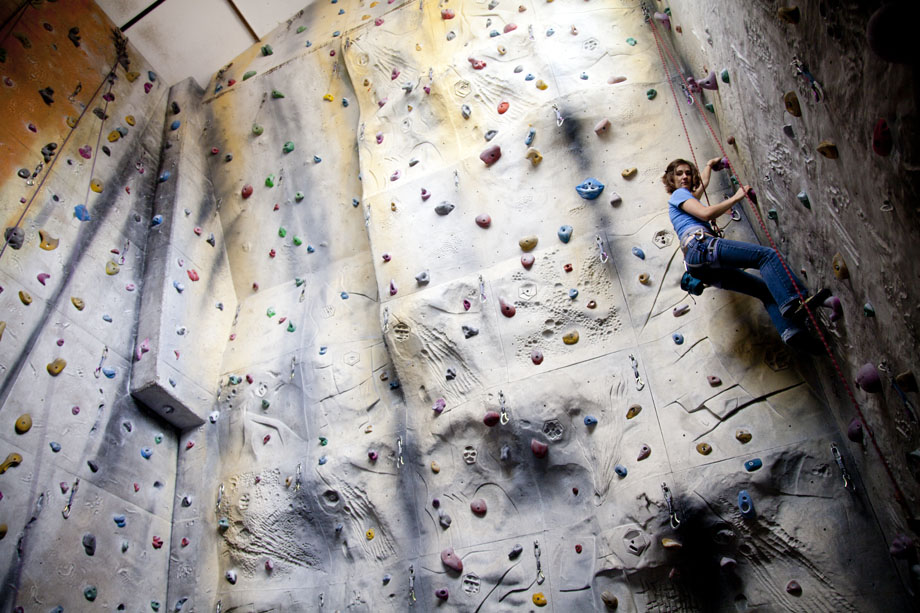 Tessa from Guildford on a sport climbing and training session in the PyB wall, 165 kb