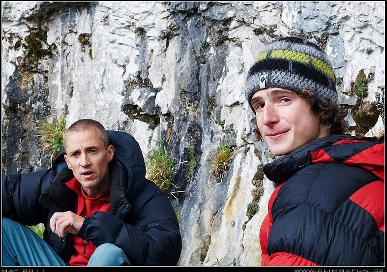 Steve McClure and Adam Ondra at Malham, 146 kb