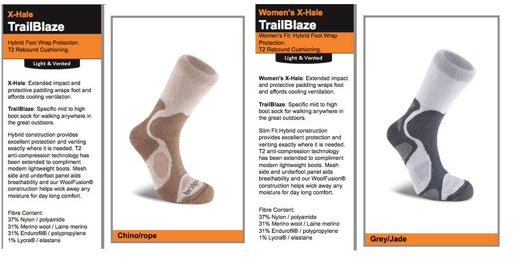 Bridgedale TrailBlaze Socks, 122 kb