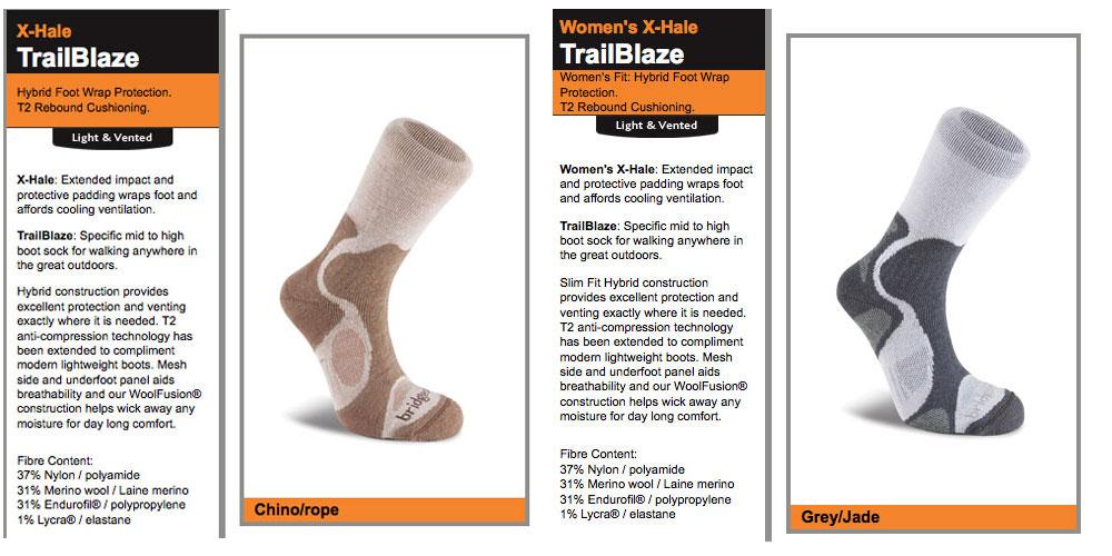 Bridgedale TrailBlaze Socks, 122 kb