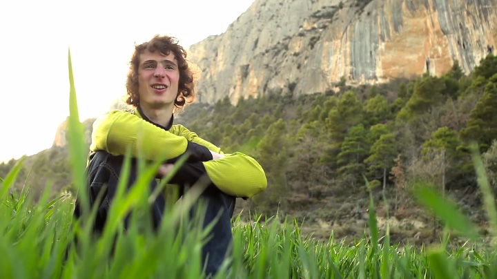 Adam Ondra being interviewed about his ascent of Chaxi raxi - 9b, 99 kb