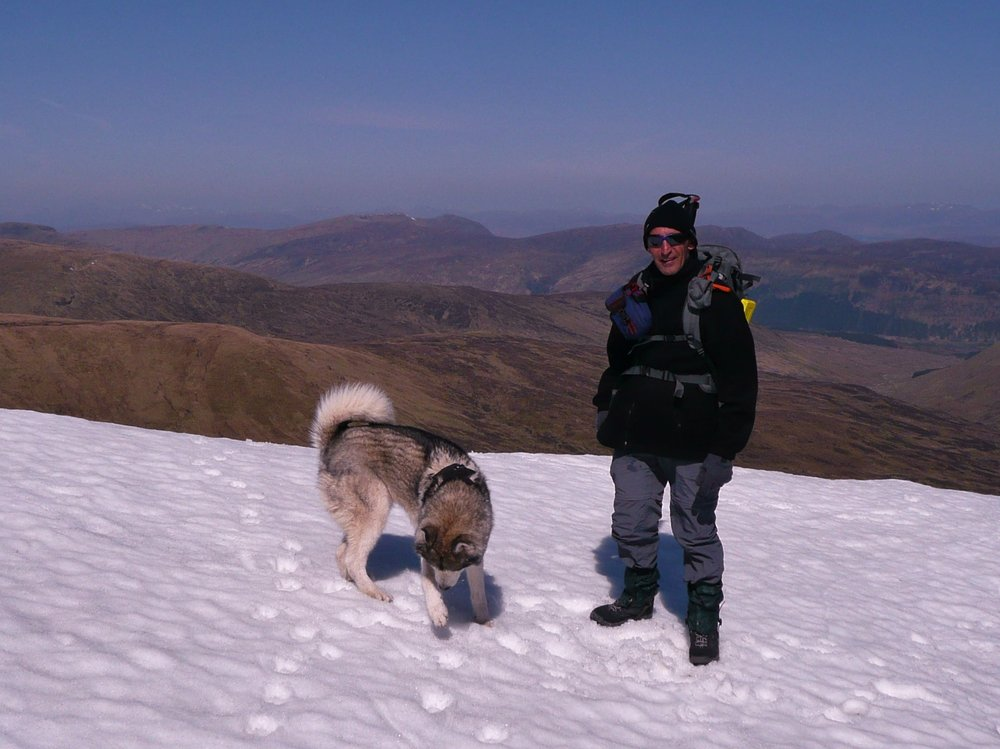 On Meall Garbh with 'Nimbus@, 126 kb