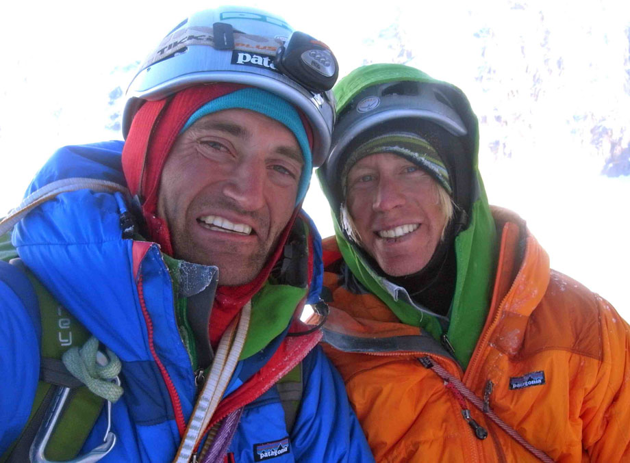 Jon Bracey and Matt Helliker at the cornice bivvy, The Cartwright Connection, 131 kb