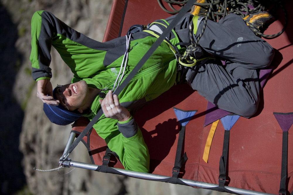 Hansjörg Auer Free climbing the Hallucinogen Wall, 150 kb