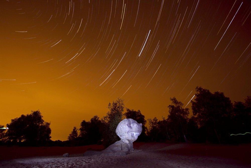 Star trails over the Cul de Chein, 77 kb