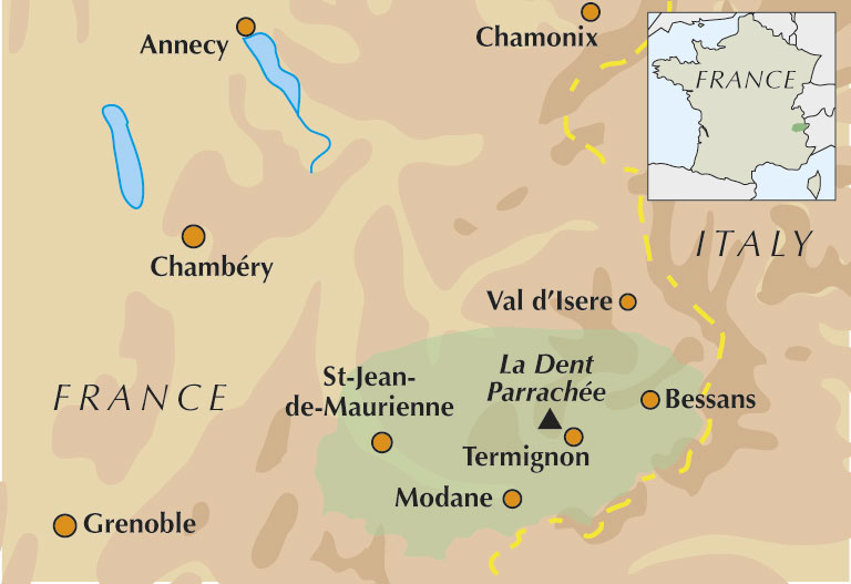 Maurienne Overview Map, 52 kb