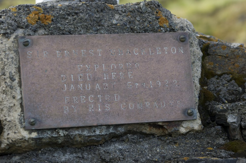 A plaque to Ernest on Hope Point, South Georgia, 145 kb