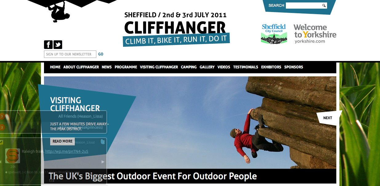 CLIFFHANGER WEBSITE MAKEOVER #1, 122 kb