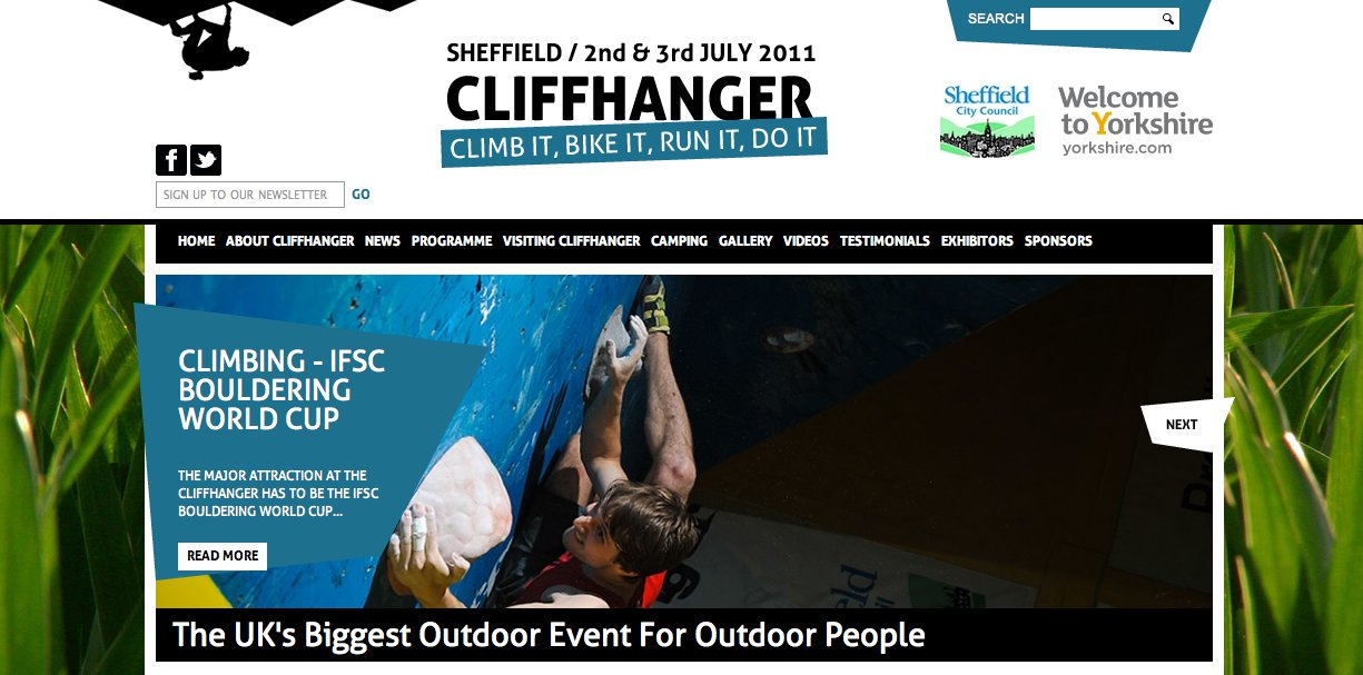 CLIFFHANGER WEBSITE MAKEOVER #2, 126 kb